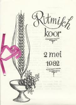 Kerkboekje 2 mei 1982